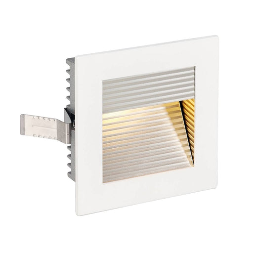 SLV SLV 113292 FRAME CURVE LED recessed light , square, matt white, warm white LED 4024163138123 113292