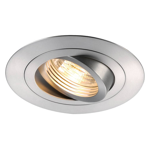 NEW TRIA XL ROUND GU10 downlight, alu brushed, max. 50W, incl. clip springs