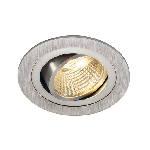 NEW TRIA LED DL ROUND SET, downlight, alu brushed,6W,38°, 2700K, incl. driver, springs