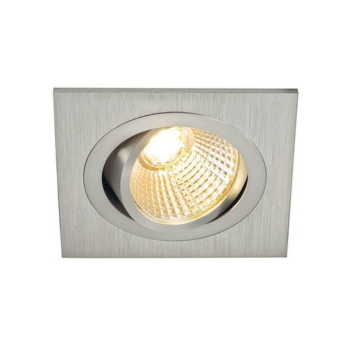 NEW TRIA DL SQUARE SET, downlight, alu brushed,6W,38°, 2700K, incl. driver, springs