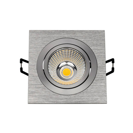 NEW TRIA DL SQUARE SET, downlight, alu brushed, 6W, 38° , 3000K, incl. driver,