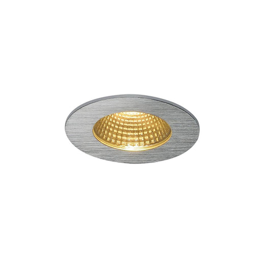 SLV SLV 114426 PATTA-I recessed ceiling light , round, alu brushed, 9W, 38°, 3000K, incl. driver 4024163151382 114426