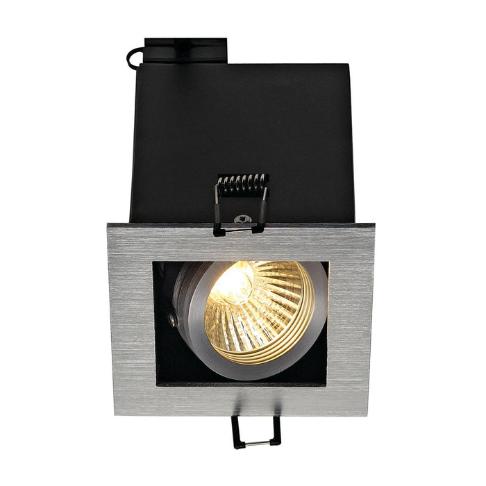SLV SLV 115516 KADUX 1 GU10 downlight, square , brushed aluminium, max. 50W 4024163141611 115516