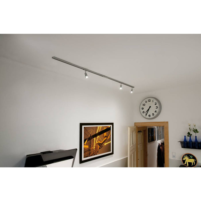 SLV SLV 143194 1-CIRCUIT TRACK SET, 2x 1m, incl. 3x PURI and 3x 4.3W LED lamp, silver-grey 4024163141185 143194