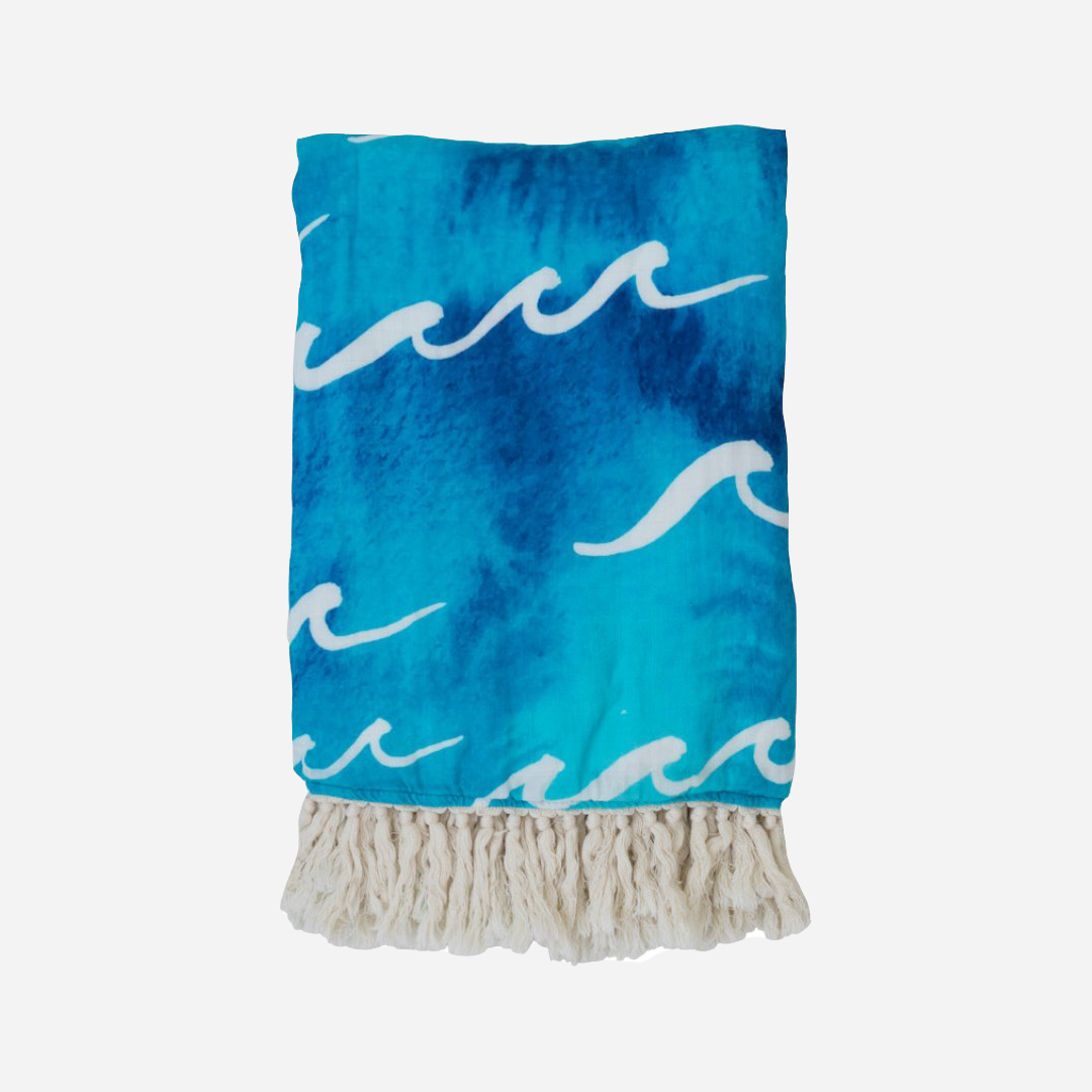 Coco Moon Nalu Mama Blanket with Fringe