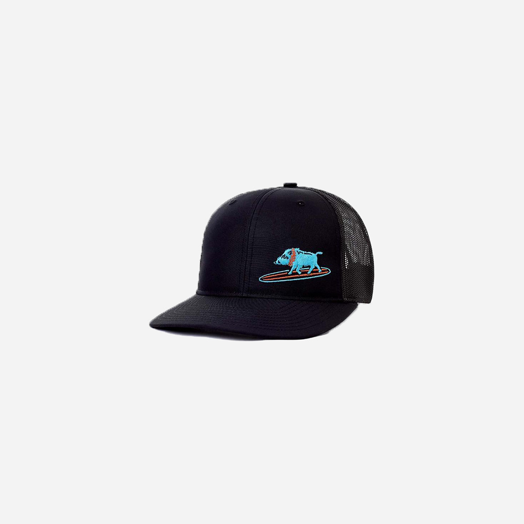 Western Aloha - Embroidered Surfing Boar Snapback