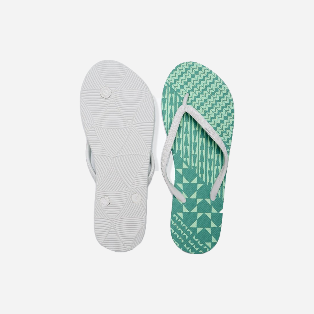 HAYN - Women's Slippers Hekili Ke'eke'e (Teal and White)