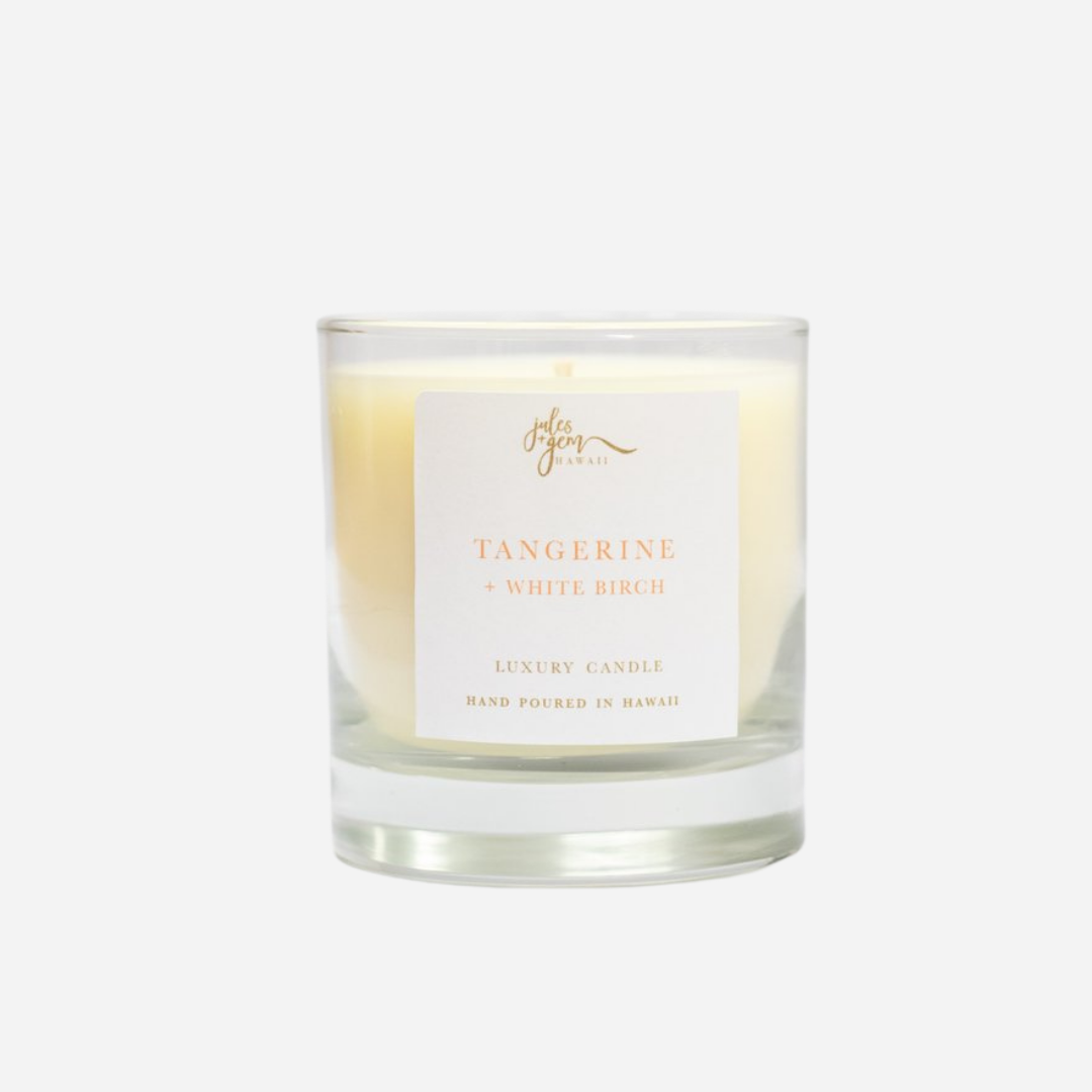 Jules + Gem - 7 oz Soy Candle - Tangerine + White Birch