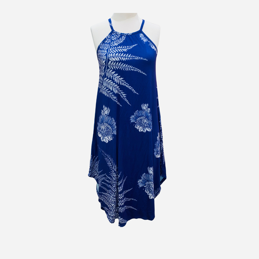 Kahulale'a - Dress Hiapo Blueberry