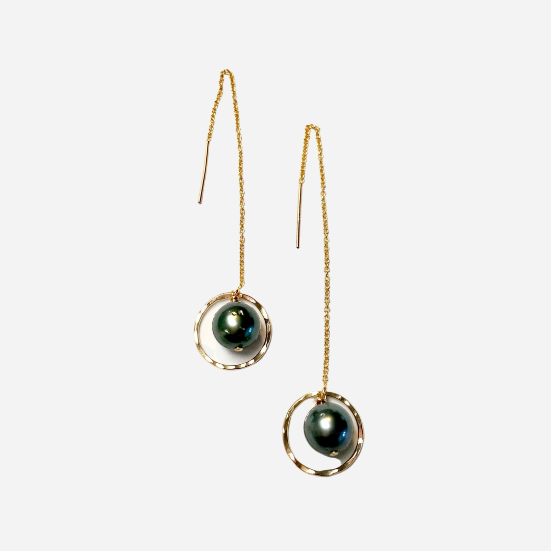 Laha'ole  - Tahitian Pearl Threaders 14k Gold Filled