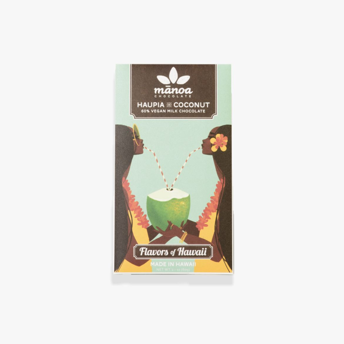 Mānoa Chocolate - Haupia x Coconut Bar 60% Vegan Milk (Limited Edition)