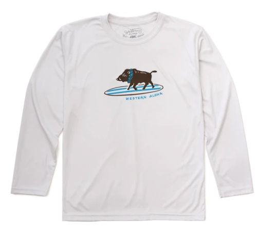 Western Aloha Youth Surfing Board Performance Tee