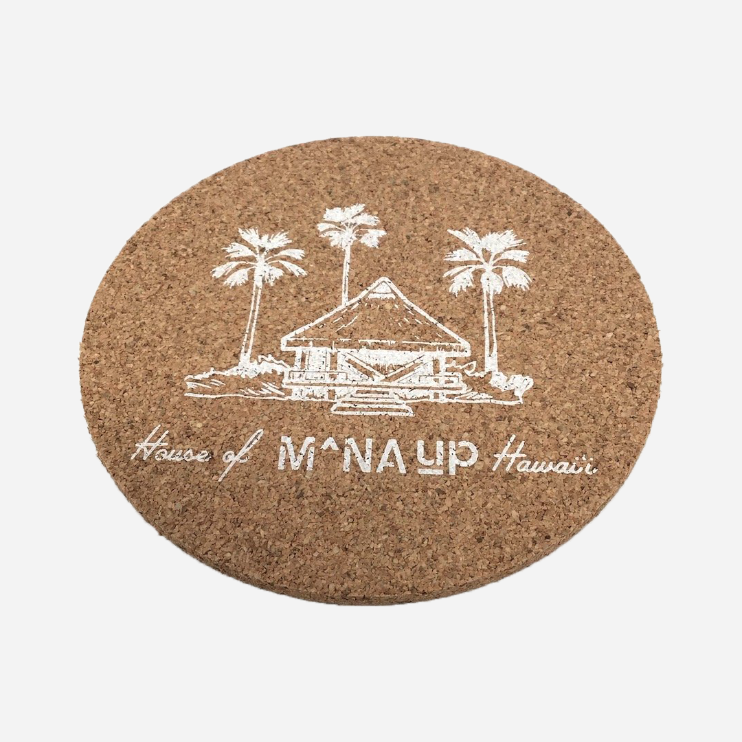 House of Mana Up Logo Cork Coaster