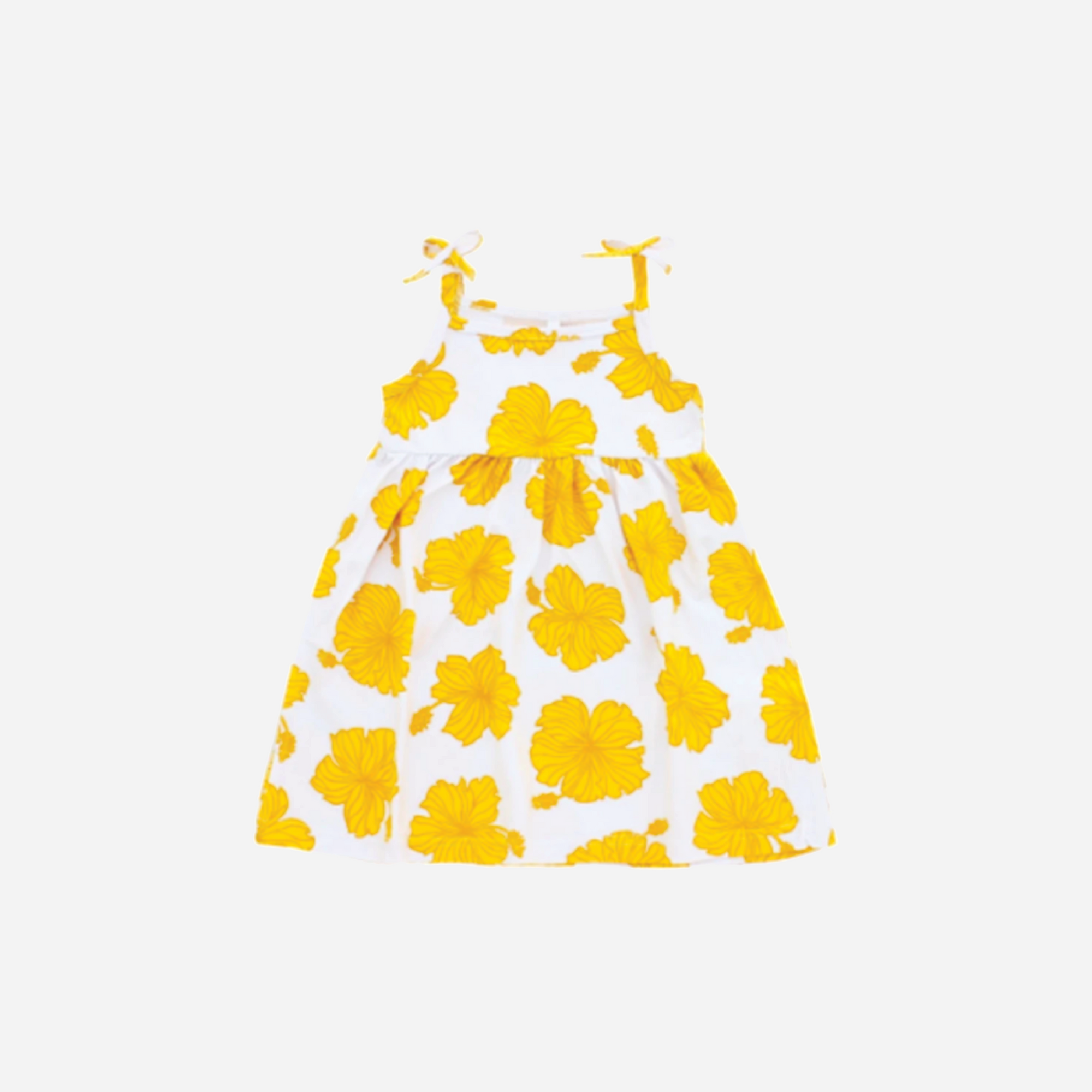 Coco Moon - Golden Hibiscus Toddler Dress
