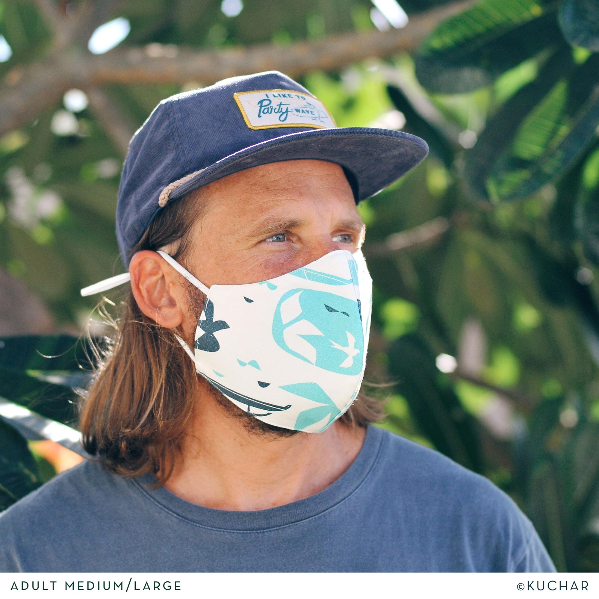 Nick Kuchar Fabric Adult Face Mask - Manu Ihu