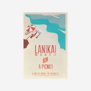 Nick Kuchar Travel Poster - Lanikai Beach