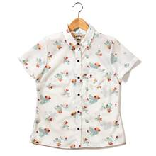 Western Aloha - Women's Ohia Button Down (White)