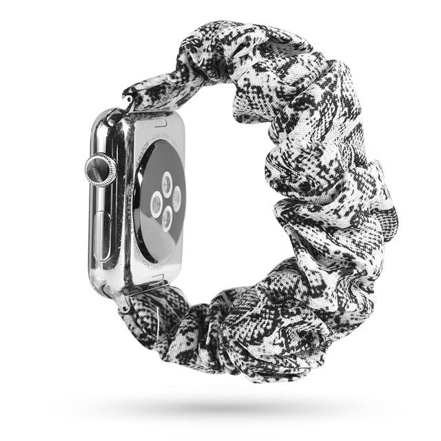 Lovely Scrunchies™   Grey Snake Pattern Band