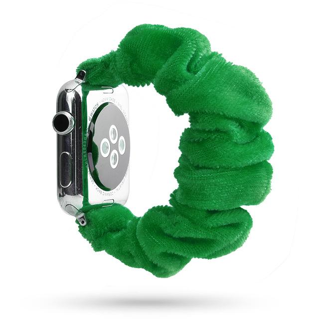 Lovely Scrunchies™   Dark Green Band