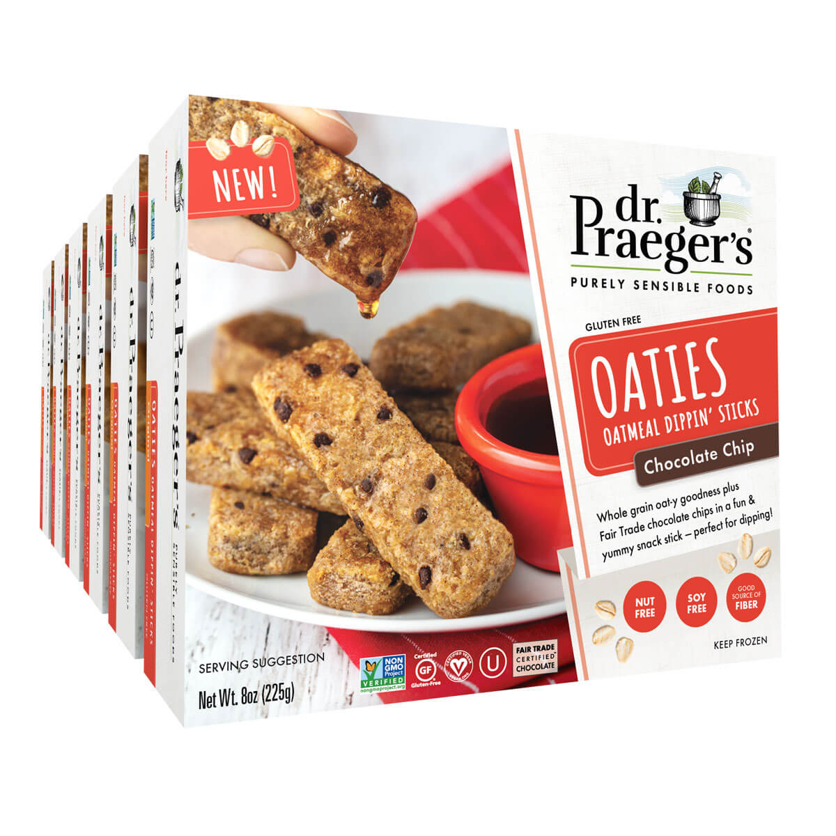 Dr. Praeger's Chocolate Chip Oaties 6 Box Image