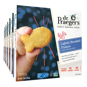 Dr. Praeger's Lightly Breaded Fishies 6 Box Image