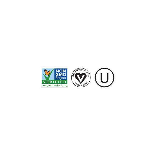 Dr. Praeger's Non-GMO Project Verified Vegan Kosher Certification Logos Image
