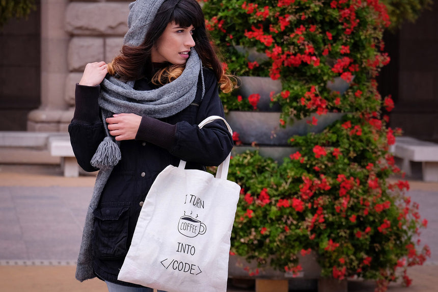 I turn coffee into code | Tote bag
