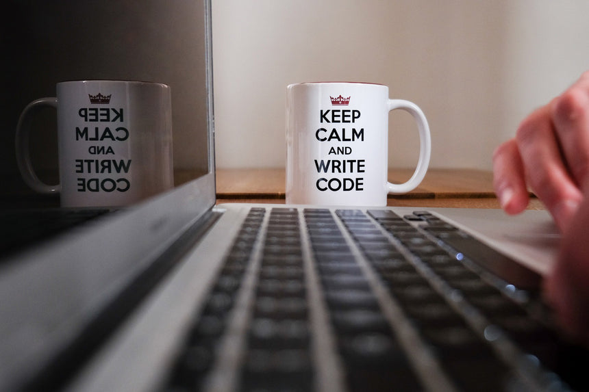 Keep calm and write code | Mug