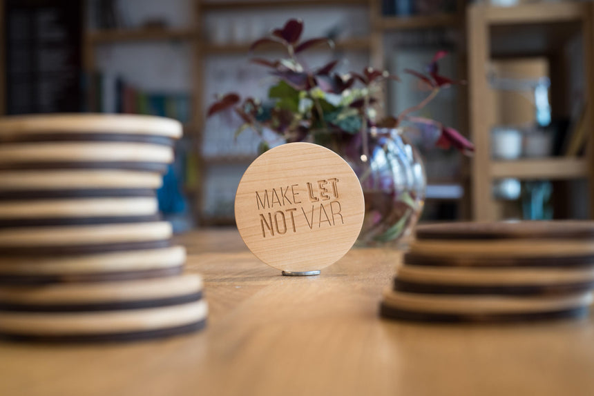 Make let, not var | Wooden coaster