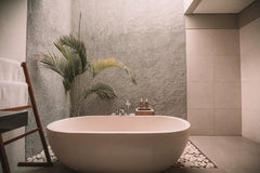 Bath Room with Bath for Self Care Relaxing time