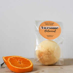 Sweet Orange Glitter Bath Bomb