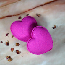 Load image into Gallery viewer, Heart Blushing Rose Bath Bomb.