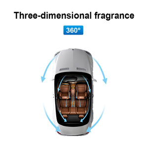 Aluminum Car Air Freshener, Car Perfume Diffuser, Car Air Purifier, Aromatherapy Car Diffuser with Solid Essential Oil with 5 Refills