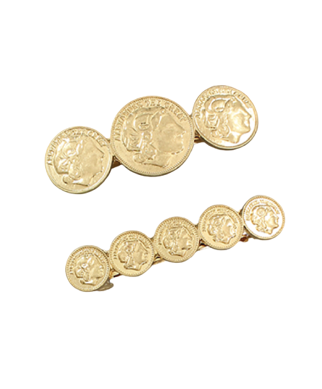 Coin Hairclips