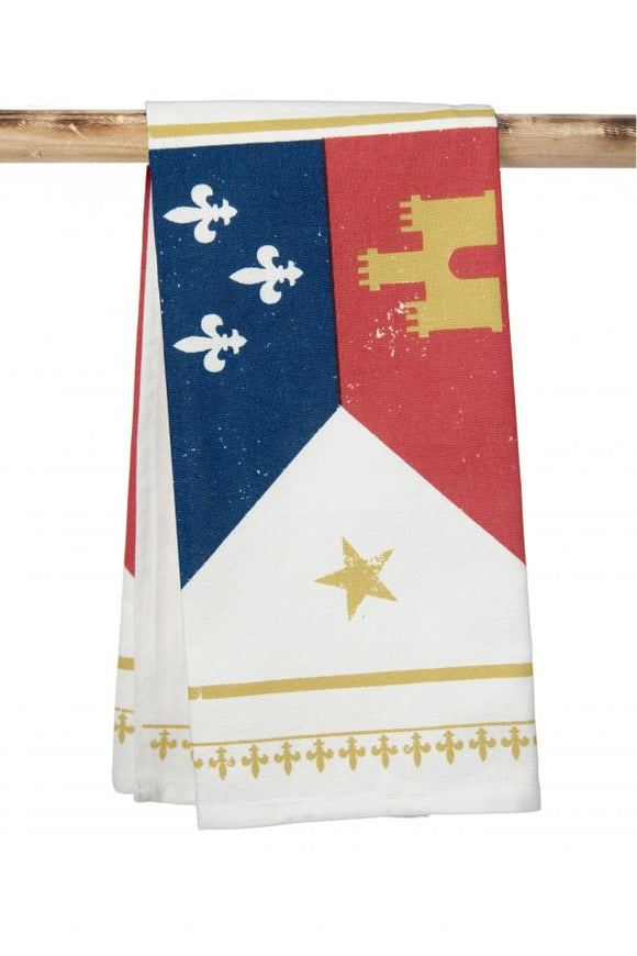 Acadiana Flag Kitchen Towel
