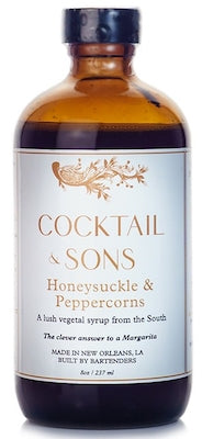 Cocktail & Sons Honeysuckle and Peppercorns Syrup