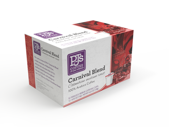 PJ's Coffee of New Orleans Single Serve Cups - Carnival Blend