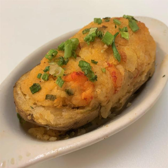 Crawfish Stuffed Twice Baked Potato