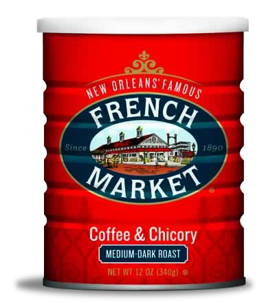 French Market Coffee-Medium-Dark Roast with Chicory-Can