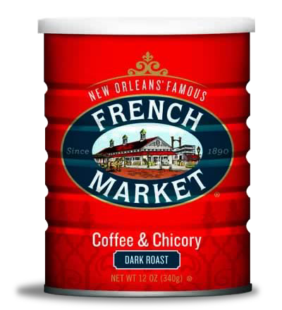 French Market Coffee-Dark Roast with Chicory-Can