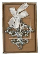 Chrome Lightweight Fleur-de-lis Ornament
