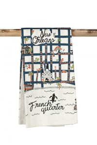 French Quarter Map Towel