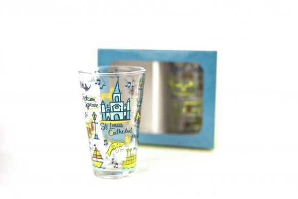 New Orleans Juice Glasses Set of 2