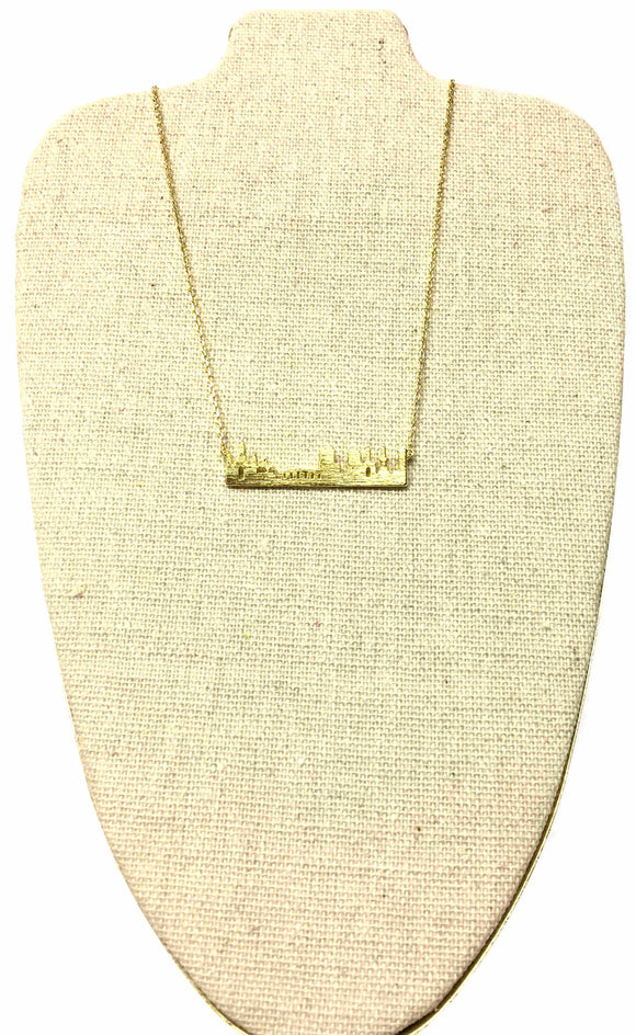 Gold New Orleans Skyline Necklace