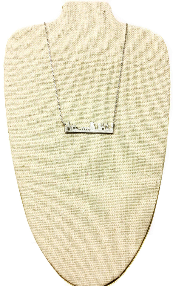 Silver New Orleans Skyline Necklace