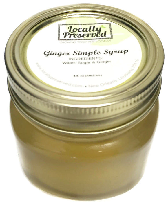 Locally Preserved Ginger Simple Syrup