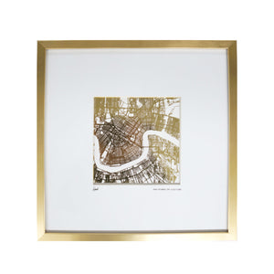 Gold Foil Map of NOLA