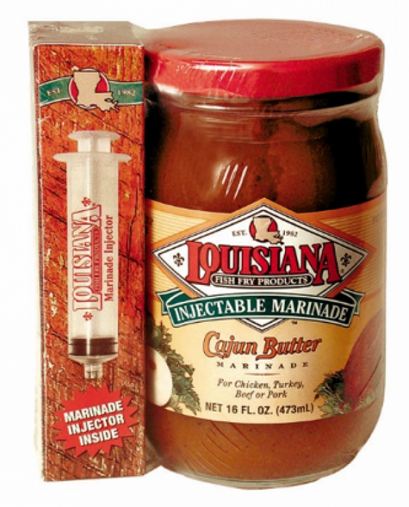 Louisiana Fish Fry Injectable Cajun Butter Marinade with Injector