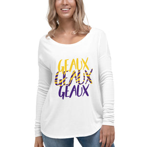 Geaux x 3-Ladies' Long Sleeve Tee