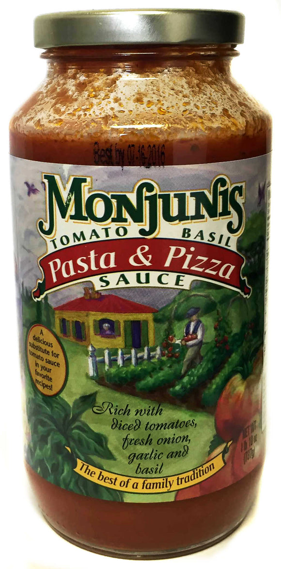Monjunis Pizza and Pasta Sauce